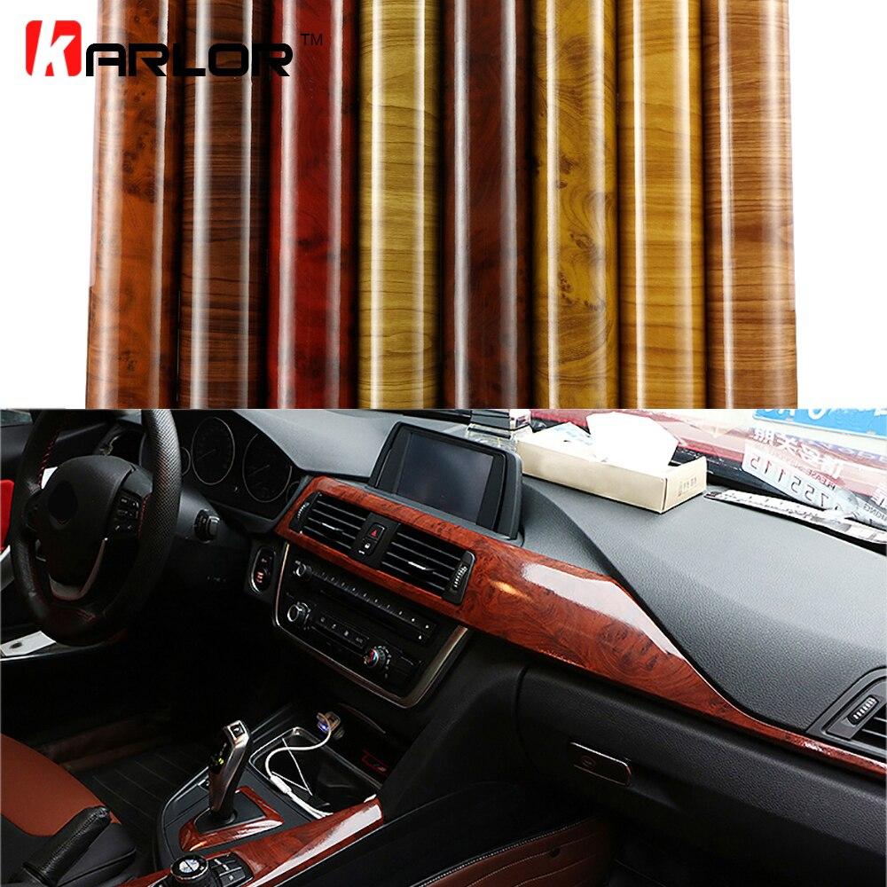 Voiture style bois Grain Fiber vinyle Wrap voiture autocollant bricolage emballage auto-adhésif décoration interne papier peint meubles autocollant