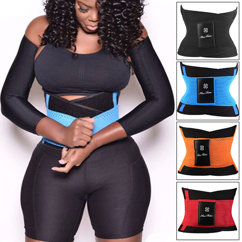 d8f11d5c814 Women Waist Trainer Belt Hot Shapers Belly Wrap Trimmer Slimmer Compression  Band for Weight Loss Workout Fitness Body Shaper