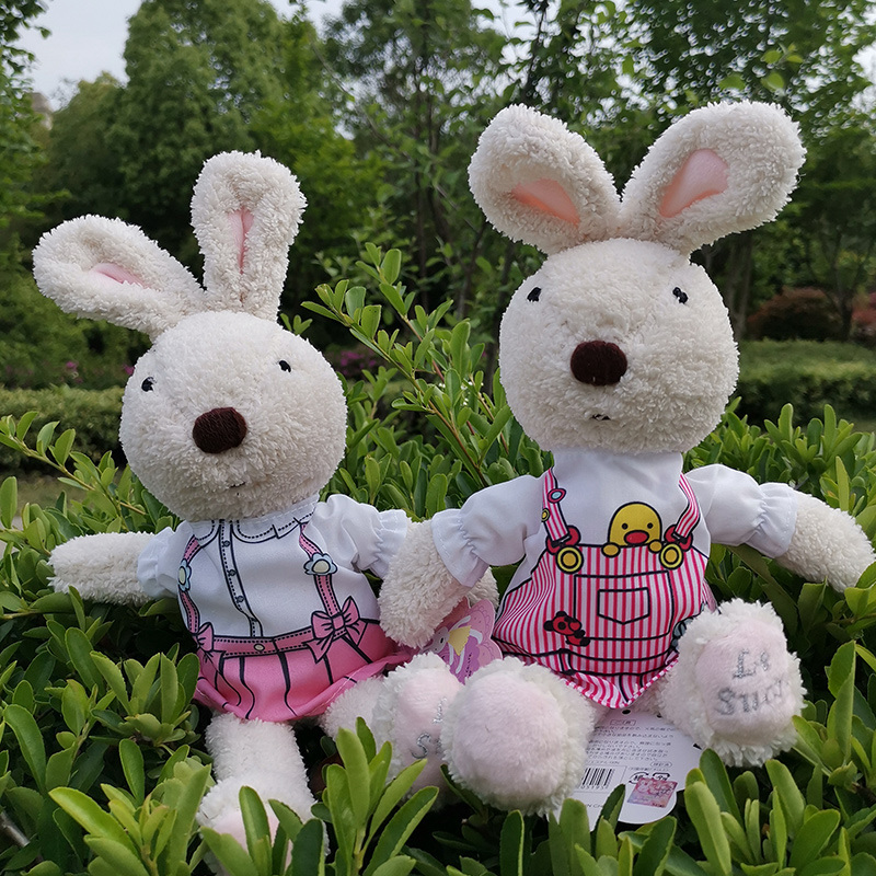 Doll Clothes Fits 30cm Le Sucre Rabbit Plush Doll and 1 6 BJD Doll Girl Doll Floral Dress Couple Suit Doll Accessories in Dolls Accessories from Toys Hobbies