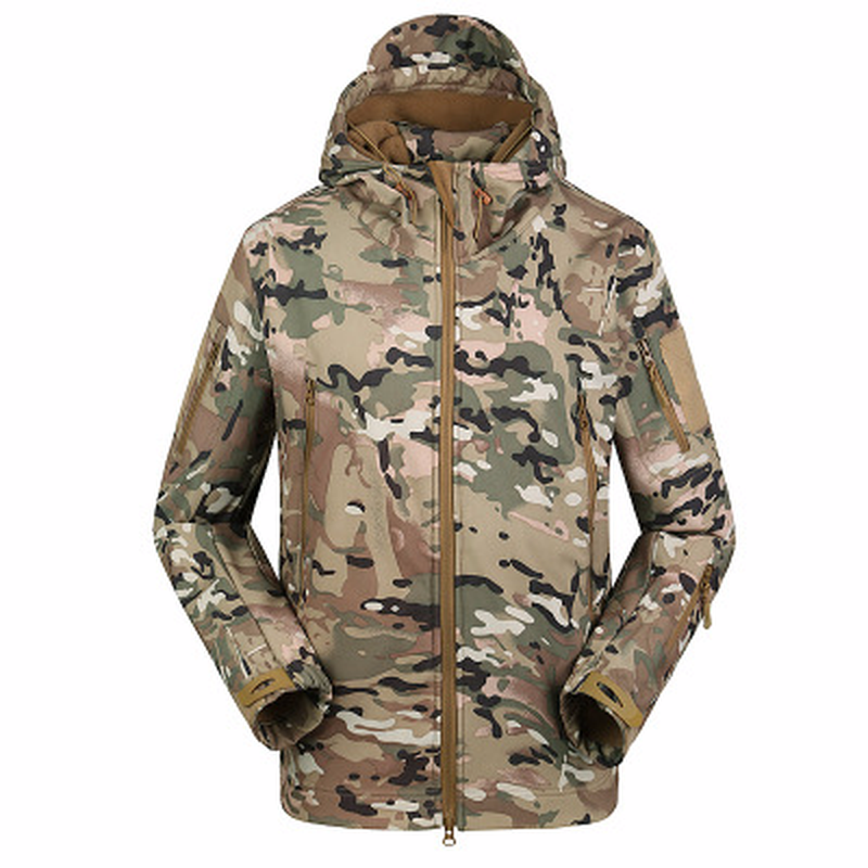2018 Hot Sharkskin Soft Shell Windproof Rain Jacket Mens Grab Sweatshirt Army Camoufla Men Jacket Coat Military Tactical Jacket ...