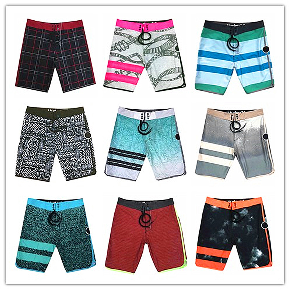 2018 New Arrivals Brand Fashion Phantom Beach   Board     Shorts   Men 100% Quick Dry Elastic Male Boardshorts Spandex Adults Swimwear