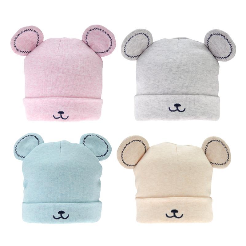 Baby Hat Autumn Winter Baby Beanie Warm Sleep Cotton Toddler Cartton Cat Ear Cap Infant Kids Newborn Clothing Accessories Hat