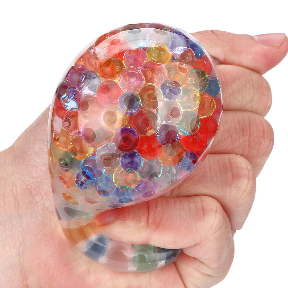 Hot Sale Spongy Rainbow Ball Toy Squeezable Stress Squishy Toy Stress Relief Ball For Fun High Quality