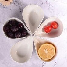 Ceramic pudding bowl, water drop shape cheese cake dish, party dish