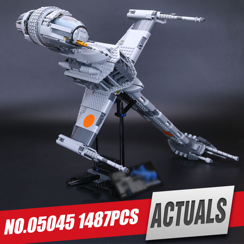 Lepin 05045 Genuine Star Series The B-wing fighter Educational Building Blocks Bricks Wars Toys legoing 10227 as Christmas Gift худи print bar sweet snow