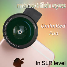 Zomei Mobile Phone Lens Fisheye Lens 10X  Super Macro 4 in 1 Lens Kit Fish Eye Lens for iPhone 6S 6 Samsung HTC Sony