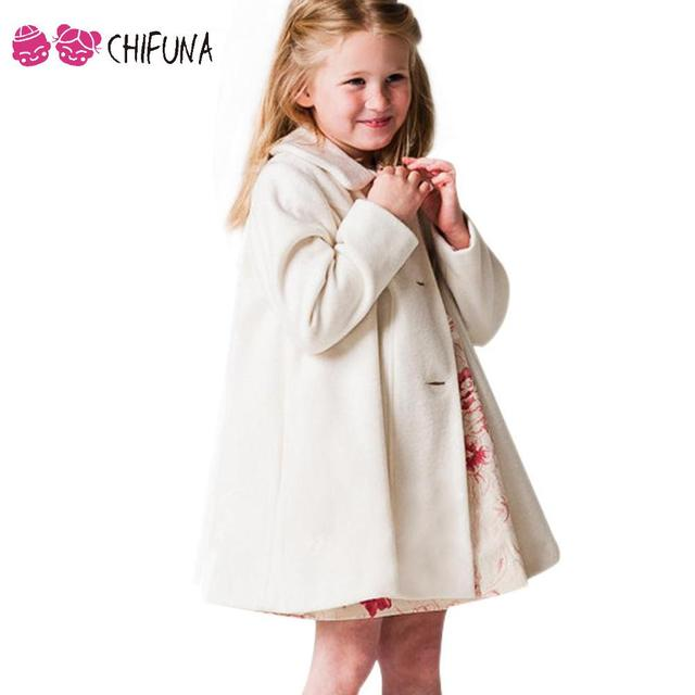 Hot Sale 2016 Girls Wool Coat Single Breasted Fashion Children Clothing Baby Autumn Apparel Outerwear Kids Woolen Overcoat