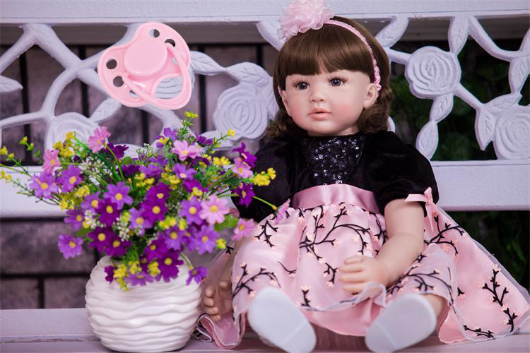 60cm Silicone Reborn Baby Doll Toys 24