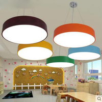 Modern minimalist color chandelier children kindergarten children 's clothing store creative personality led cartoon chandeliers
