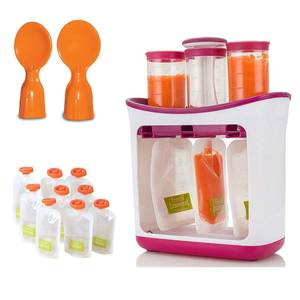 Containers Pouches Feeding-Kit Food-Maker-Set Fruit-Juice-Station Squeeze Baby-Food-Storage