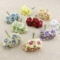 6 unids piezas de seda de perlas flores artificiales baratas guirnalda coronas de cabeza para boda coche decoración ramo de flores decorativas ramillete flor falsa