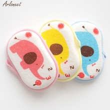 Pasgeboren Baby Kids Leuke Katoenen Douche Bad Spons Wrijven Cartoon Body Wash Handdoek Baby Waggel Kids Bad Borstels Handdoek Accessoires(China)