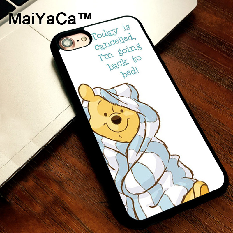 MaiYaCa Winnie The Poohs Bear Sleepy Mobile Phone Case For iPhone 5 5s SE Slim Back Cover Soft TPU Cases For iPhone SE