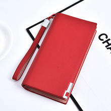 Fashion Luxury Brand Women Wallet with Hand Strap Large Capacity Zipper Pocket Card Holder Woman Clutch Bag Multi-Color Optional
