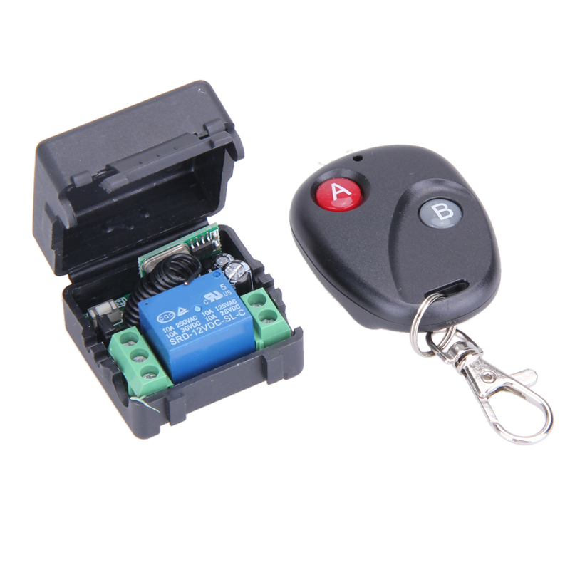 New Universal Wireless Remote Control Switch DC12V 10A 433MHz Telecomando Transmitter with Receiver 433mhz remote control 660v ui 10a ith 8 terminals rotary cam universal changeover combination switch