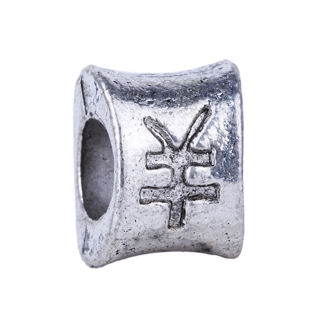 1pc european charm silver chinese currency symbol bead diy fashion 1pc european charm silver chinese currency symbol bead diy fashion style alloy beads fit pandora biagi bracelets bangles in beads from jewelry biocorpaavc Image collections