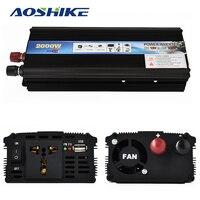 Aoshike Professional 2000W Car Inverter DC12V To AC220V Power Inverter Charger Converter Transformer Vehicle Power Supply