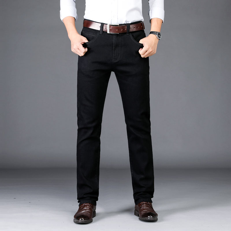 2019 New Winter denim joggers Warm black   jeans   hommes Men Thick Denim Pants Male Quality Trouser big size 40