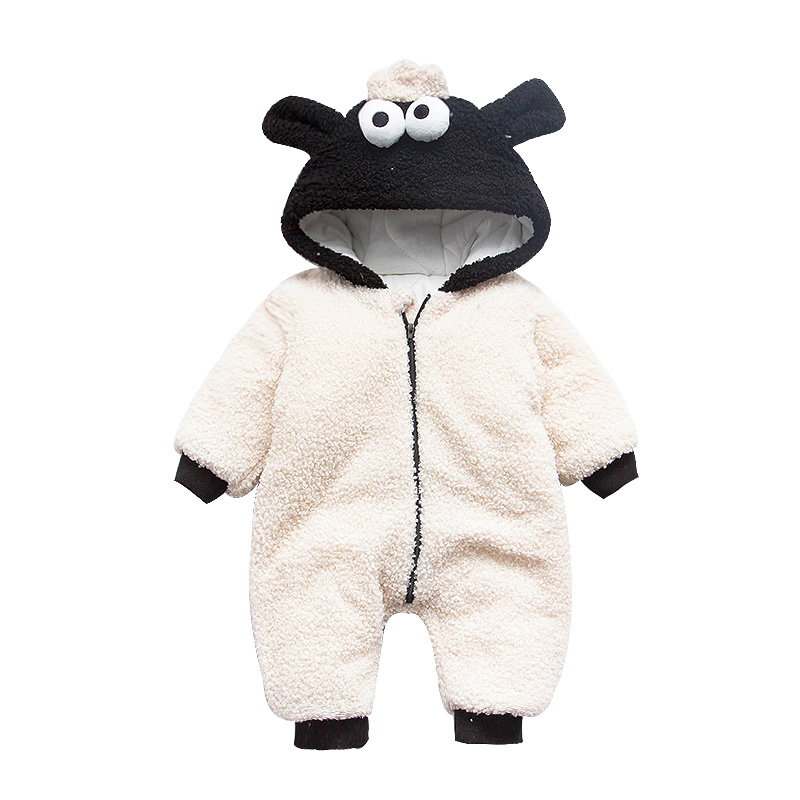 98e33f18b Cute Newborn Infant Romper Baby Winter Jumpsuit Animal Sheep Costume ...