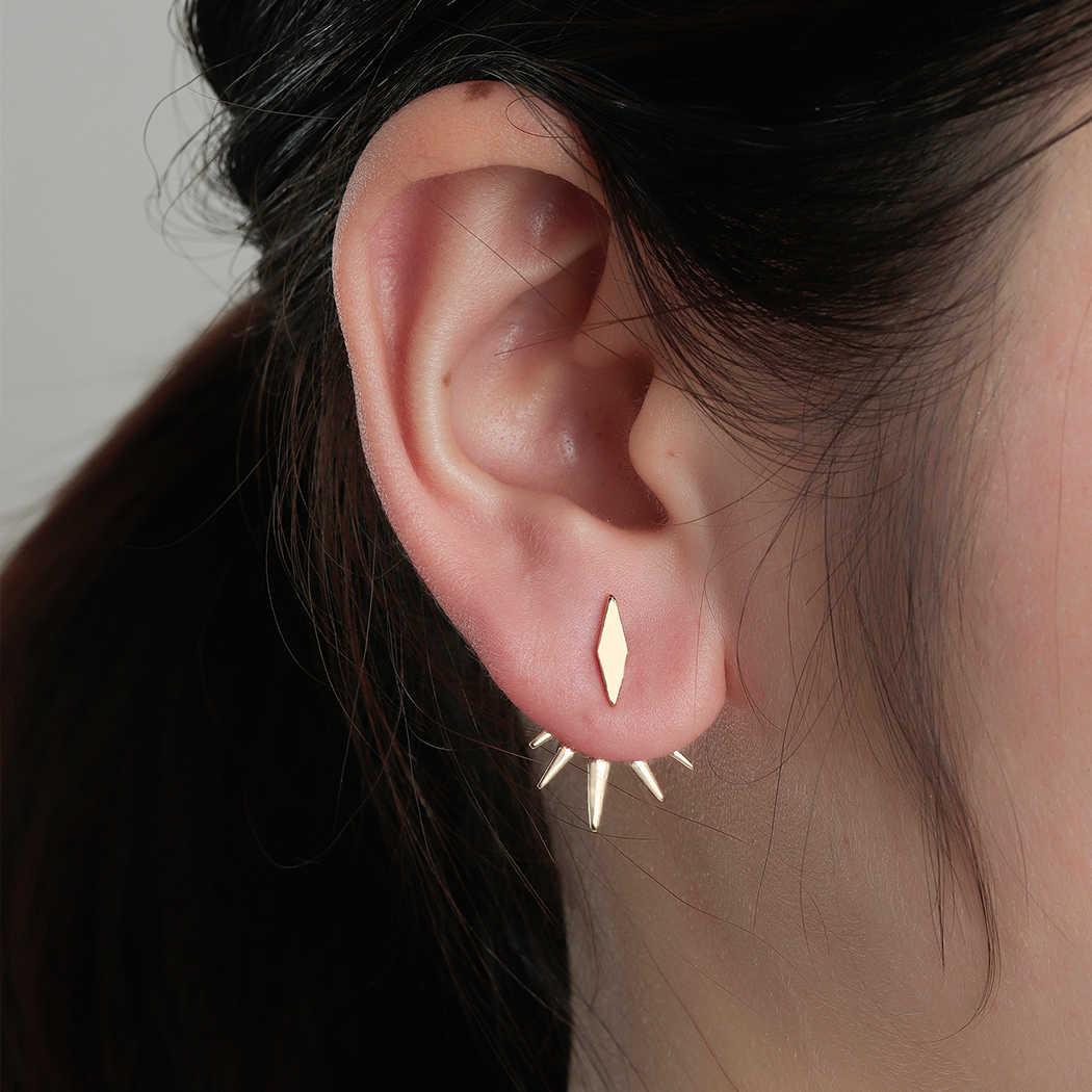 Новые стимпанк геометрические ушные куртки серьги с зубцами для женщин пирсинг Винтажные серьги-кольца, модные ювелирные украшения Brincos