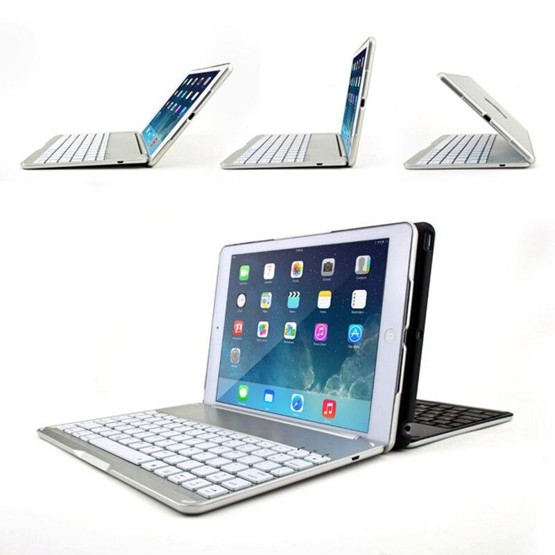 Haute Qualité Smart étui pour iPad Air 2 Sans Fil étui pour clavier bluetooth pour iPad 6 A1566 A1567 étui pour tablette Folio Stand