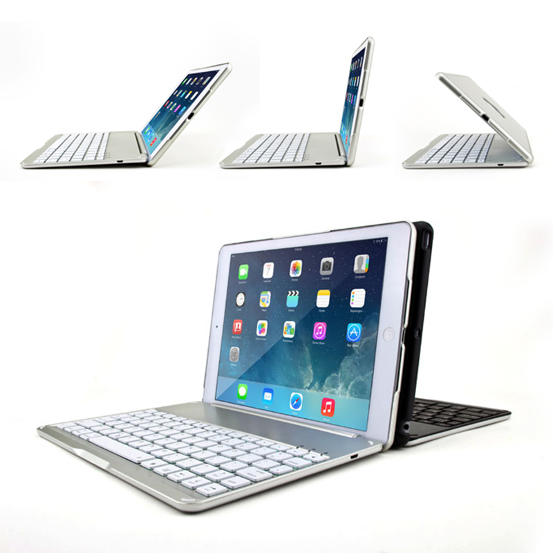 High Quality Smart Case for iPad Air 2 Wireless Bluetooth Keyboard Case Cover for iPad 6 A1566 A1567 Tablet Case Folio Stand