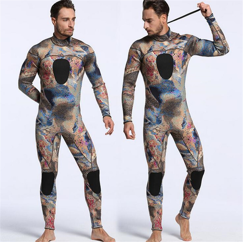 MYLEGEND Camouflage Wetsuit 3mm Diving Suit Warmer Winter Swim Long Sleeve One-piece Swimsuits Thick Shirt Jacket Surfing Wear цена