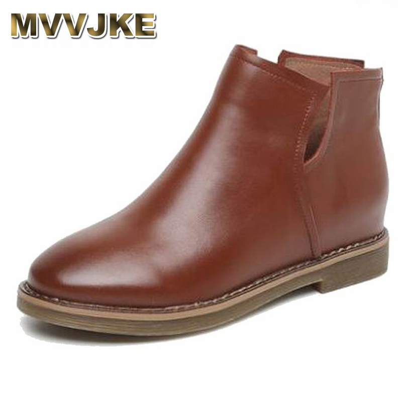 MVVJKE   Ankle Boots Genuine Leather Winter Boots Womens Autumn Shoes Low Heels Chelsea Boots Vintage Sewing Thread Britain MVVJKE   Ankle Boots Genuine Leather Winter Boots Womens Autumn Shoes Low Heels Chelsea Boots Vintage Sewing Thread Britain