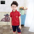 2016 New Hot Sale Summer Kids Boys T Shirt Shorts Set Children Short Sleeve Shirt Clothing Set Kids Boy Sport Suit Outfit 5-15Y