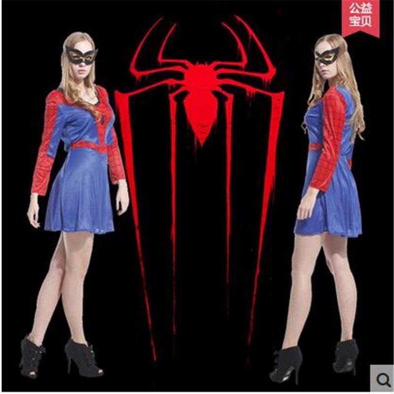 <font><b>Spidergirl</b></font> Cosplay <font><b>Costume</b></font> <font><b>Women</b></font> Spiderman <font><b>Costume</b></font> Halloween Party <font><b>Costume</b></font> Adult Christmas Carnival Dress