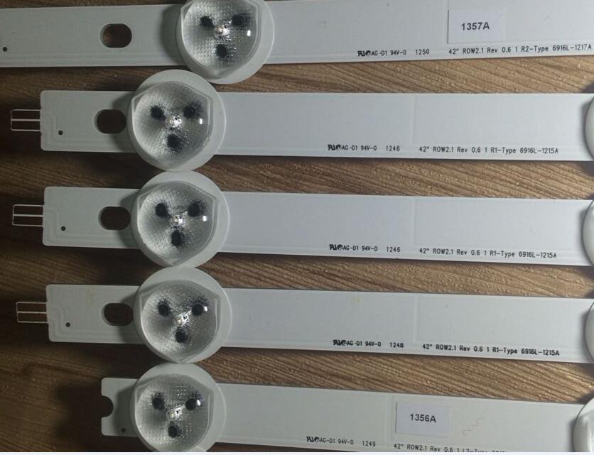 100% New FOR LG42LP360C-CA 42inch ROW2.1 REV0.6 1 L2-Type 6916L-1216A 6916L-1214A 6916L-1215A 6916L-1217A 1Set =10pcs 1PCS=5LED