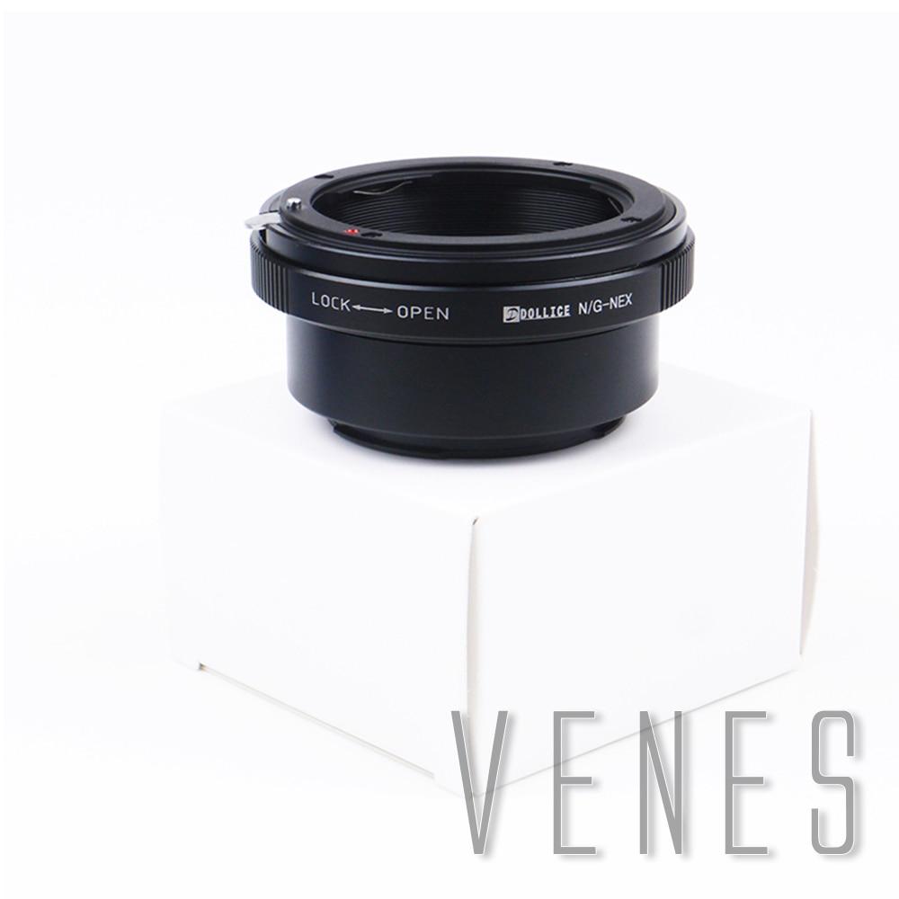 Gold Pixco Focus Infinity Lens Adapter Pro Built-in Iris Control Lens Adapter Suit for Nikon F Mount G Lens to Sony E Mount NEX Camera A6400 A7III A7RIII Alpha a9 Alpha NEX-7 NEX-6 NEX-5T NEX-5R