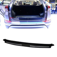Black Rear Boot Outer Bumper Guard Sill Plate Protector For Hyundai Tucson 2016 2017