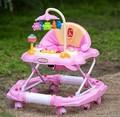 6 / 7-18 meses de bebé niño caballo mecedora andador anti vuelco freno mesa de comedor con música