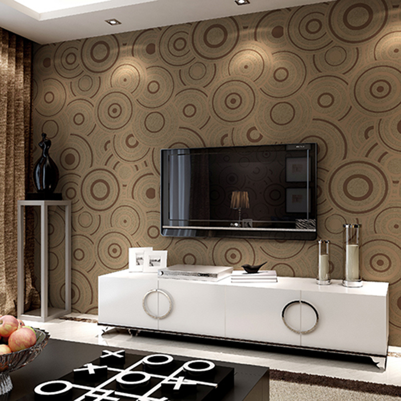 Modern Fashion 3D Stereo Circle Wallpaper For Living Room TV Sofa Non-Woven Flocking Thickening Wall Papers Roll Papel De Parede