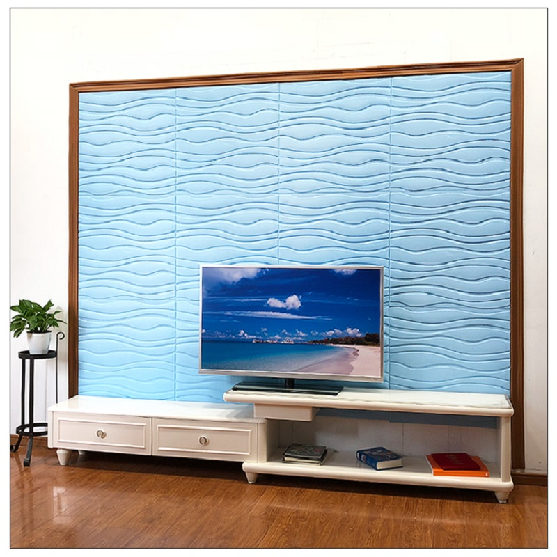 2018 New Self adhesive wall sticker Flexible 3D board TV background wall living room bedroom wallpaper Store creative decoration in Wall Stickers from Home Garden