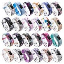 24 cores de pulso macio pulseira banda titular para garmin vivofit jr/para garmin vivofit jr 2 jr2 júnior atividade rastreador wear