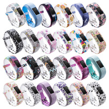 24colors Soft Wrist Bracelet Band Strap Holder for Garmin VivoFit Jr/for Garmin VivoFit JR 2  JR2 Junior Activity Tracker wear