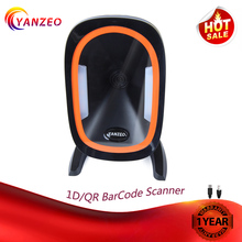 Yanzeo YZ888 Automatic Omni-Directional High Perfermance Desktop RS232 1D 2D BarCode Scanner for Supermarket Warranty 12 Months compos bc2020 omni directional laser barcode scanner