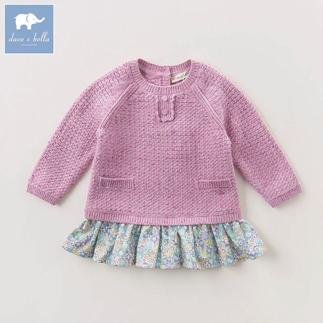 Db6089 Dave Bella Autumn Infant Baby Girls Fashion Knitted Sweater