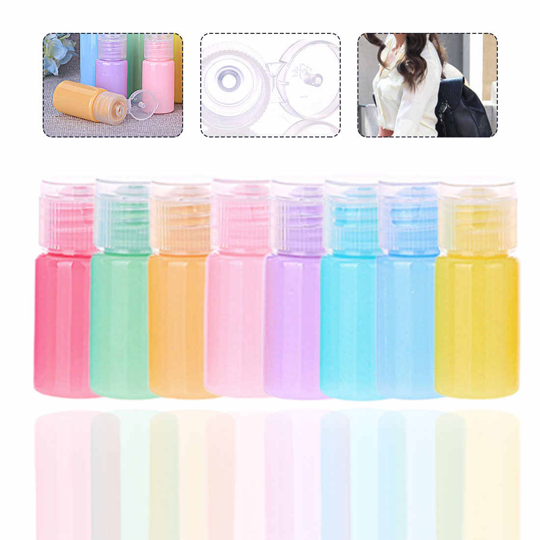 10ml Makeup Refillable Bottles Traveling Packing Empty Portable Bottle For Lotion Soap Travel Refillable Bottles