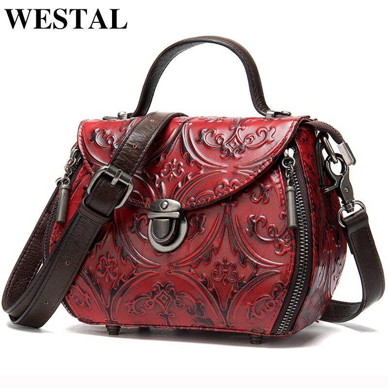 WESTAL femmes sacs en cuir véritable luxe sacs à main femmes sac designer épaule sacs à main pour femmes messenger/crossbody sacs rabat