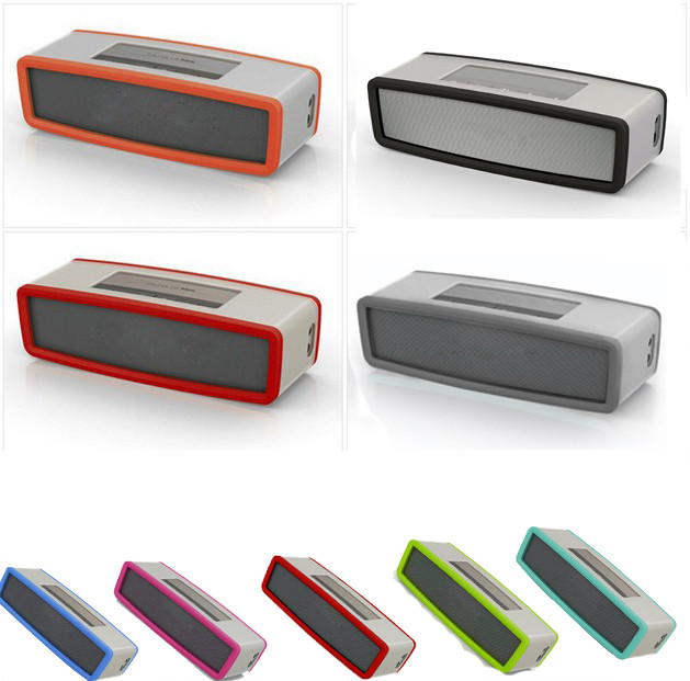 High Recommend Travel Box Silicone Carry Case Bag for BOSE SoundLink Mini Bluetooth Speaker portable speaker image