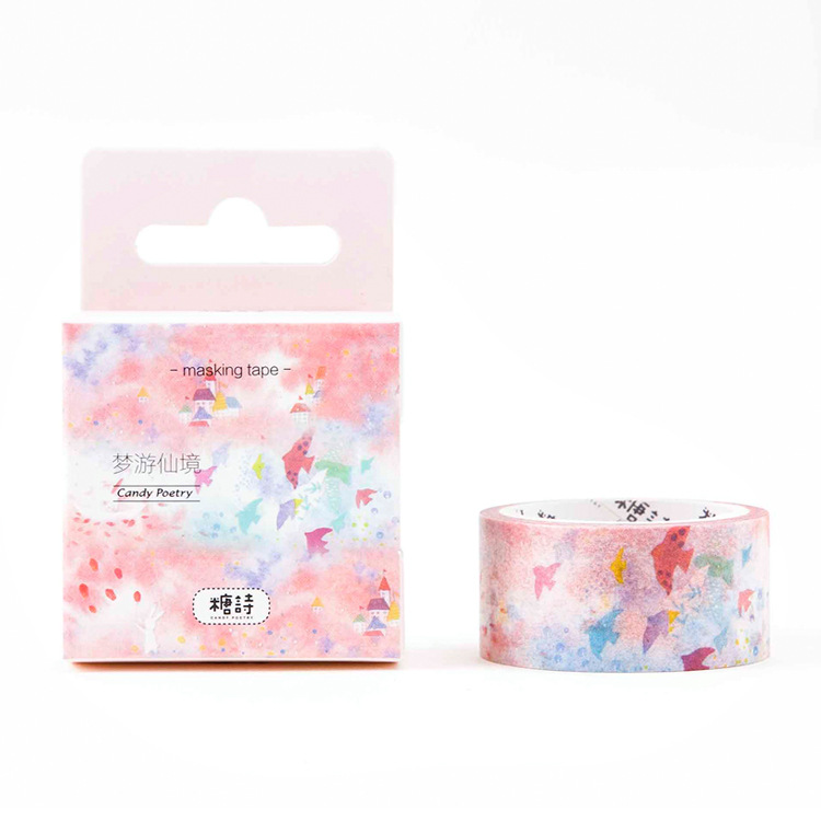 The Colorful Birds Watercolor Style Masking Tape Washi Paper Tapes Gift 30mm*5M