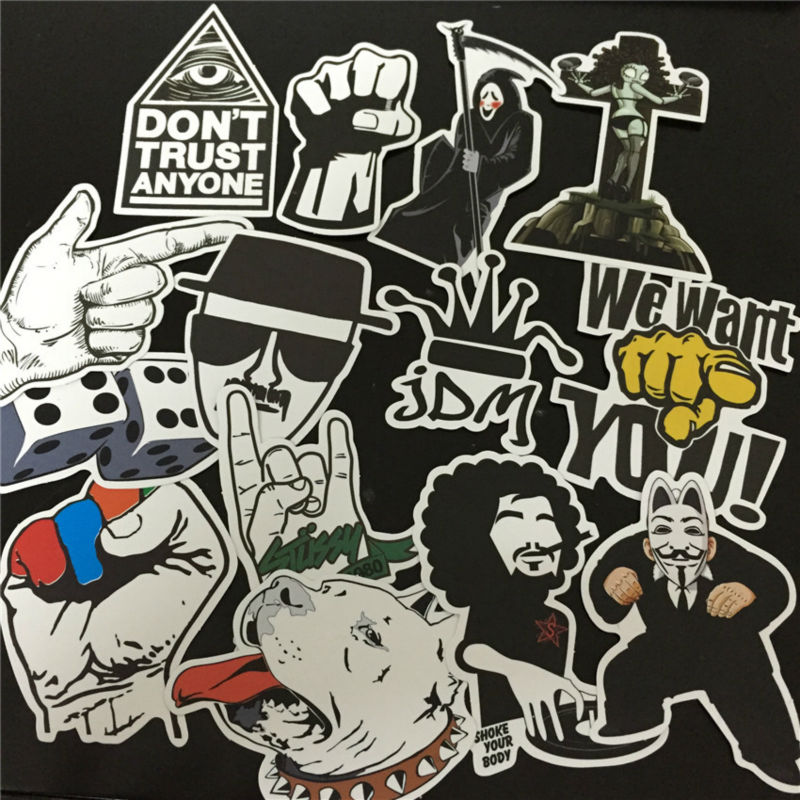 80pcs/lot Funny Doodle Car JDM Stickers for Cars Bicycle Laptop Motorcycle Accessories Moto Bomb Sticker on Styling