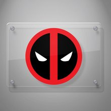 Dead Pool Color (Black, White, Red Vinyl) Decal Sticker for Car Window, Laptop, Motorcycle