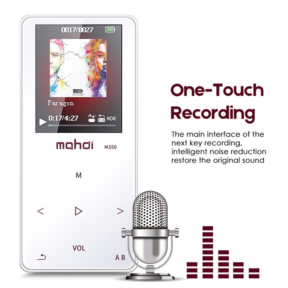 8G mémoire professionnelle Flac APE musique HiFi lecteur sans perte enregistreur Mini baladeur Audio Radio Speler Colorfly LCD écran écouteur