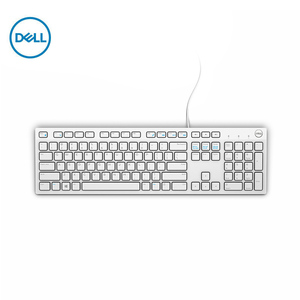 Dell KB216 keyboard computer desktop office all-in-one laptop home keyboard black / white with USB(China)