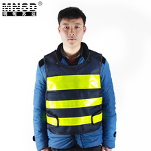 MNSD black reflective vest Chaleco Reflectante Safety Vest Gilet Jaune Securite Reflective Reflex Weste Vest  Safety Vest