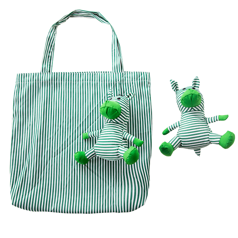 Cute Animal Toys Folding Cotton Shopping Bag Eco Friendly Ladies Gift Foldable Reusable Tote Bag Portable Kawaii School Bag